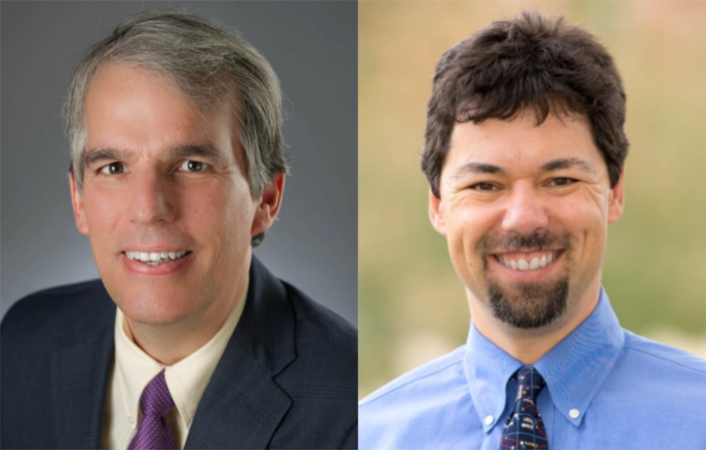 Mark Olfson, M.D., M.P.H., left, and Michael Schoenbaum, Ph.D.