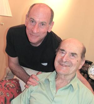 Henry Heimlich, 96, right, and his son, Phil Heimlich, 63.