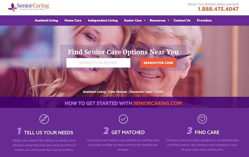 New referral site launches for senior living communities