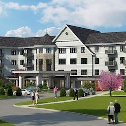 An artist's rendering of Grand Living at Indian Creek. (Image: Ryan Companies)