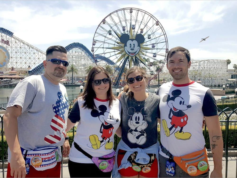 One of last year's Dream Big Lottery trips was to Disneyland. (Photo courtesy of Aegis Living. IDs appear below.)