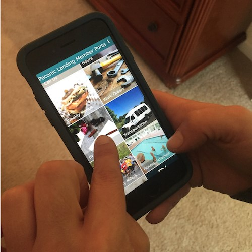 Peconic Landing's 'Community Life' app was named 2017 Innovation of the Year by LeadingAge New York.