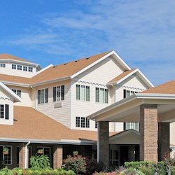 Detail from the cover of New Senior Investment Group's third quarter investor presentation. Pictured is Kingwood Senior Living at Cypress Woods in Kingwood, TX.