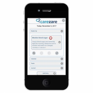 The CareZare app also offers an enterprise solution for organizations such as assisted living communities and nursing homes as well as professional caregivers.