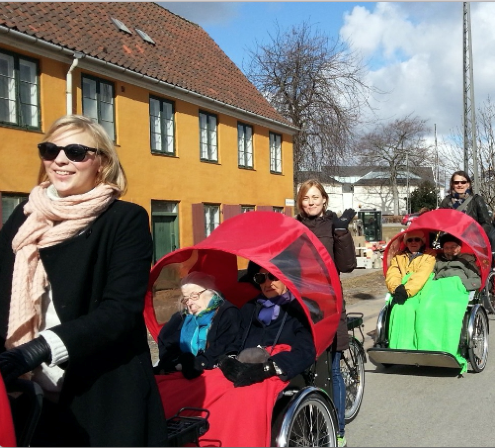 The Cycling Without Age program is popular in Scandinavia.
