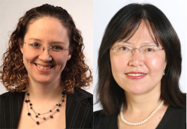 Emily Hunter, PhD, left, and Cindy Wu, PhD