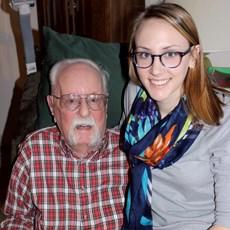 Wilbert Schmidt is shown with his granddaughter. Photo courtesy of Tiffany Schmidt