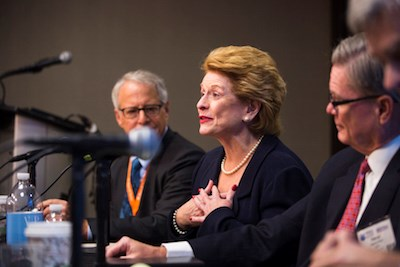 Sen. Debbie Stabenow participates in a panel discussion at the Hospital of Tomorrow conference.