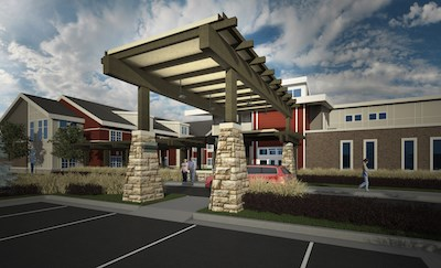 An artist's rendering of the Healthcare Resort of Kansas City.