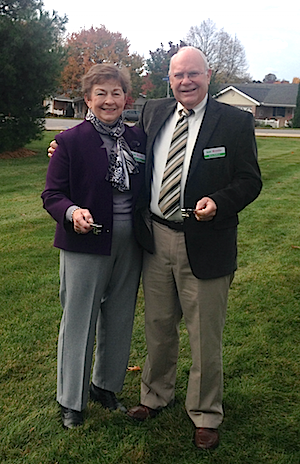 Lois and Barry DeRoos have signed up for Village Square and participated in the groundbreaking.