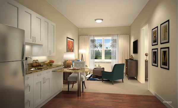 A bedroom at Sheridan at Lakewood Ranch, Lakewood Ranch, FL.