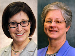 Bonnie K. Burman, Sc.D., left, and Beverely Laubert