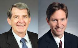 Minnesota state Rep. Jerry Newton, left, and Sen. Kent Eken.