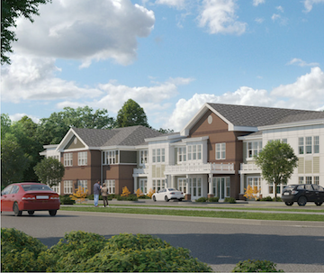 An artist's rendering of Anthem Memory Care's Emerald Place in Glenview, IL.