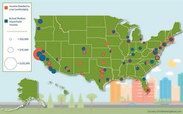 Best and worst cities to live comfortably, save money