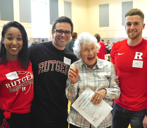 Rutgers students interacted with residents of Springpoint Senior Living at an April 13 campus event.