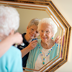 Investigators from the Yale School of Public Health found that people with a more positive outlook on aging were about 40% less likely to develop dementia. (Photo: Brookdale Senior Living)