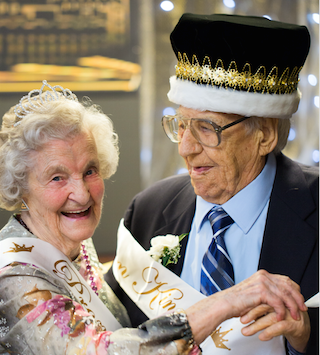 Brandywine prom queen Martha Munster and king Phil Yanich. Both are 103.