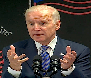 Vice President Joe Biden makes a point while discussing the final overtime rule.