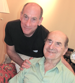 Henry Heimlich, 96, right, and his son, Phil Heimlich, 63.