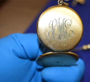 Authorities are trying to find the owners of this piece of jewelry and other valuables.