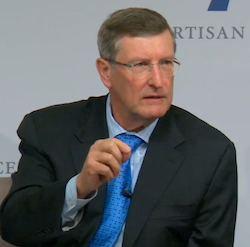 Former Sen. Kent Conrad makes a point about the Bipartisan Policy Center's new report.