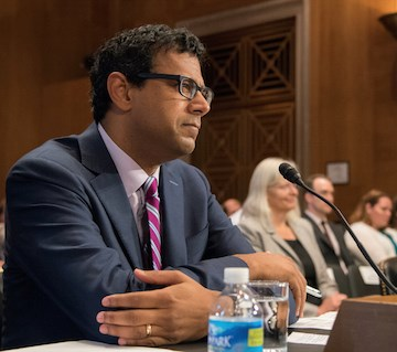 Atul Gawande, M.D., M.P.H., testifies before the Senate Special Committee on Aging on June 23.