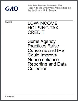 GAO raises concerns related to low-income housing tax credit program