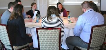 Deborah Wollner, RN, senior resident care director at Sunrise Senior Living, in a CRIT small group.