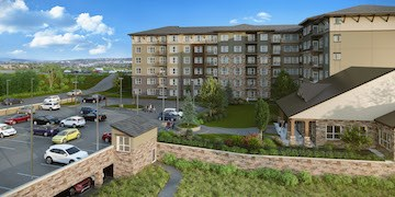 An artist's rendering shows Longs Ridge at Wind Crest.