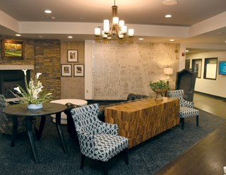 The four-story building offers a full continuum of eldercare services.