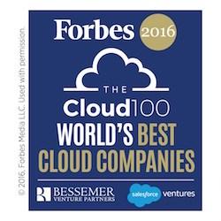 Forbes Cloud 100 list features familiar names