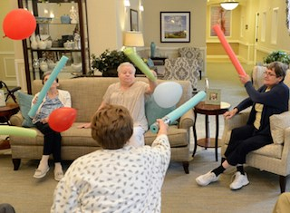 Unlike these residents, a new CDC study finds that 35.3% of people aged 75 or more years are not physically active. (Photo by John Merkle)