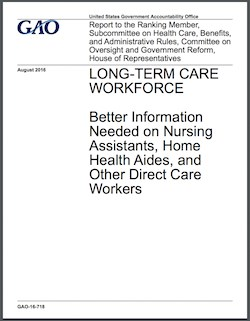 Direct care workforce solutions hampered by data gaps, GAO says