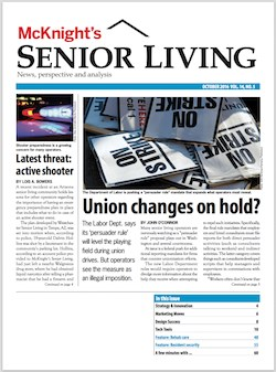 October issue of McKnight's Senior Living now online