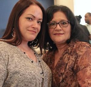 Maria Rupert-Grimes, LPN, and her mother, CNA Gloria Rodriguez.
