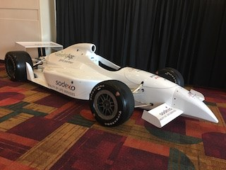 This car, with the Sodexo logo, is on display at the LeadingAge annual meeting in Indianapolis.