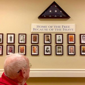 Blue Sage Pointe's new Wall of Valor honors residents who have served in the U.S. Armed Forces.