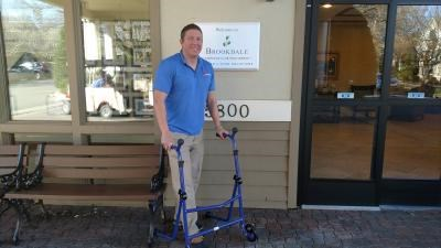 Entrepreneur tests walker as temporary senior living resident