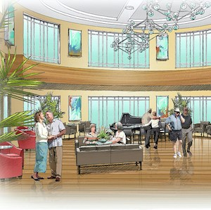 The proposed interior of Autumn at Brandon is depicted in this artist's rendering.