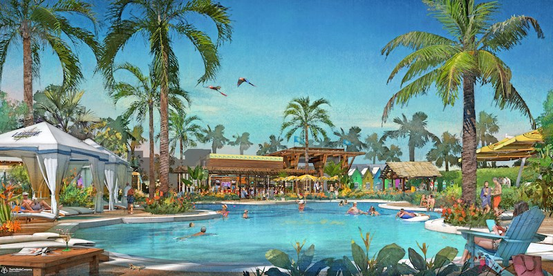 Latitude Margaritaville will feature a pool area with beach entry.