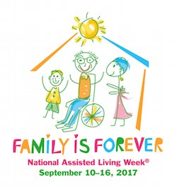 'Family is Forever' will be theme of National Assisted Living Week