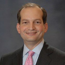 Secretary of Labor R. Alexander Acosta was sworn on April 28. OSHA is part of the Labor Department.
