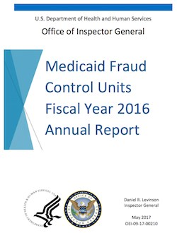 MFCU efforts result in 19 assisted living convictions, $168,991 in recoveries in FY 2016: OIG report