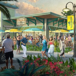 Latitude Margaritaville Hilton Head will include a retail complex with a Margaritaville restaurant, specialty stores, grocery store and entertainment venues.