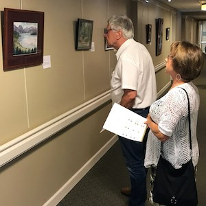 The Grace Ridge art show had 45 pieces by 25 artists aged 60 or more years, including residents.