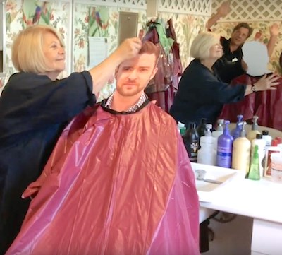 A cardboard Justin Timberlake makes a guest appearance in Brandywine Living at Pennington's video for National Assisted Living Week.