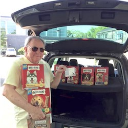 In Newport, RI, Newport–Blenheim community Executive Director Stanley Slonka dropped by The Potter League, a local animal shelter, with surprise treats for cats and dogs.