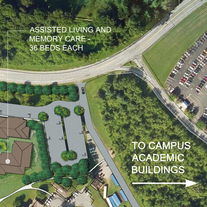 Plans for the senior living community at Purchase College include assisted living, memory care and more. See the entire map below.