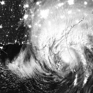 NASA-NOAA's Suomi NPP satellite captured this nighttime infrared image of Hurricane Irma over central Florida on Sept. 11 at 3:21 a.m. EDT. (Credit: NOAA/NASA Goddard Rapid Response Team)